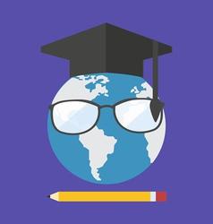 Online education concept Flat design stylish vector image vector image