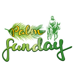 palm sunday jesus christ rides on a donkey into vector image vector image