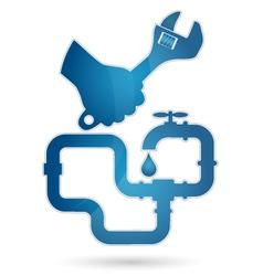 repair plumbing vector image