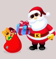 Santa clause with christmas gifts vector