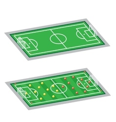 soccer-football fields vector image