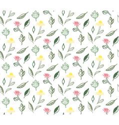 Summer flowers seamless pattern vector