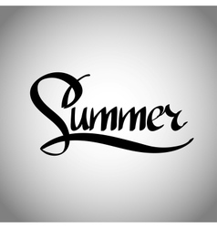 Summer hand lettering - handmade calligraphy vector image