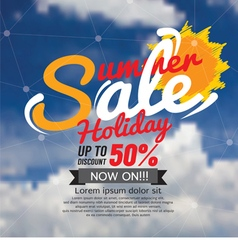 Summer Sale Banner vector image