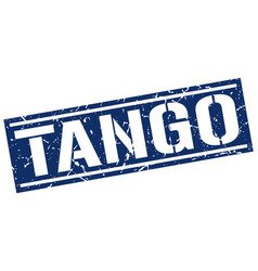 Tango square grunge stamp vector