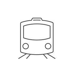 train outline icon vector image