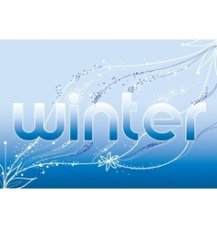 word winter vector image