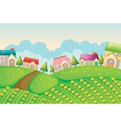 colony of houses in nature vector image