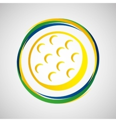Golf ball sport badge icon vector