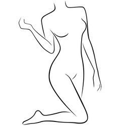Lower part of slender female body vector