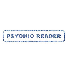 Psychic reader textile stamp vector