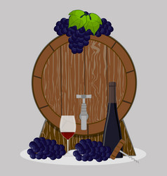 the wine vector image