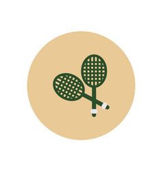 Stylish icon in color circle tennis rocket vector