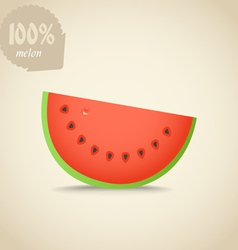 Cute fresh red water melon vector