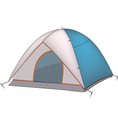 Blue tent vector image