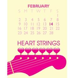 2014 valentine calendar vector