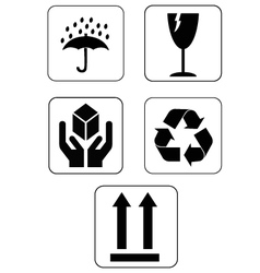 Fragile icons vector