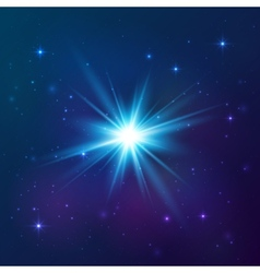 Blue shining star vector image