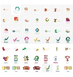 Large corporate company logo collection Universal vector image