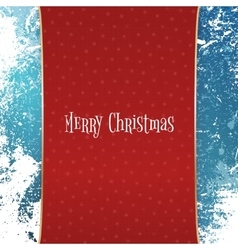 Christmas red banner with white snowflakes vector