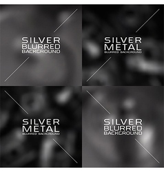 Set of dark grey blurred backgrounds vector