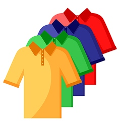 Shirt polo color set vector