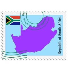 Mail to-from south africa vector