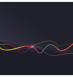 Abstract background wavy colorful swirly line on vector