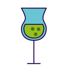 Alcohol cup cartoon vector