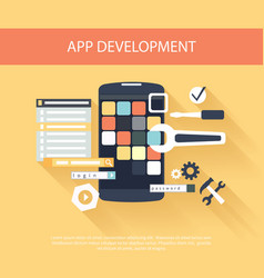App development instruments concept vector