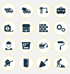 architecture icons set collection of lifting hook vector image