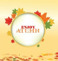Autumn leaves border design vector