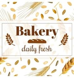 Bakery banner vintage vector