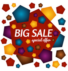 Big sale special offer square banner vector