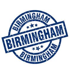 Birmingham blue round grunge stamp vector