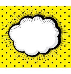 blank pop art comic book speech bubble vector image vector image