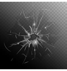 Broken window pane vector