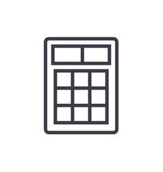 calculator sign line icon sign vector image