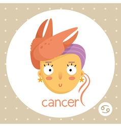 Cancer zodiac sign girl with claws vector image