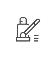 car jack line icon vector image vector image