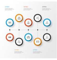 communication icons set collection of mailbox vector image vector image