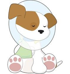 cute puppy cone vector image vector image