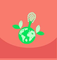 Eco friendly green energy concept solar energy vector