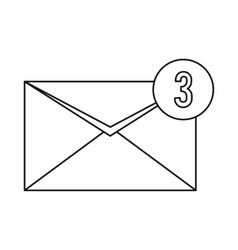 Envelope with three messages icon vector image vector image