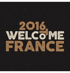 France europe 2016 football typography label vector