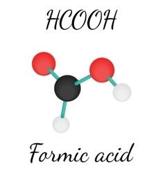 Hcooh formic acid molecule vector