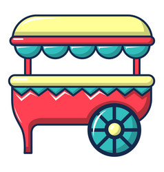 ice cream cart icon cartoon style vector image