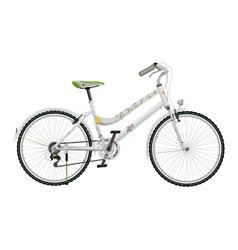 Ladys white bike vector