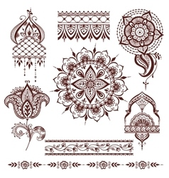 Mandala pattern set vector image