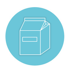 Milk box isolated icon vector